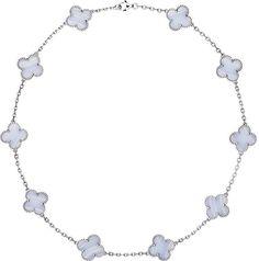 Van Cleef & Arpels Van Cleef & Arpels Vintage Alhambra Gold and Chalcedony Necklace