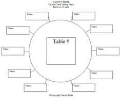 Download To Edit  Print Free Wedding Seating Chart Template