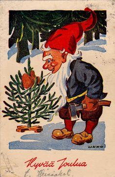 "HANS BJÖRKLIND ""UKKO"" Scandinavian Christmas, Gnomes, Rooster, Album, Painting, Animals, Vintage, Art, Picasa"