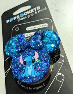 Lilo And Stitch Quotes, Lilo E Stitch, Cute Stitch, Disney Stitch, Pop Sockets Iphone, Iphone Cases Disney, Cute Phone Cases, Blue Glitter, Cute Disney