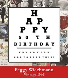 Happy Birthday #wine label with vision test. Personalized your own at BottleYourBrand.com