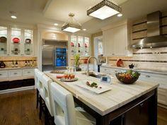 Travertine Countertops - Our 10 Favorite Kitchen Countertop Materials on HGTV