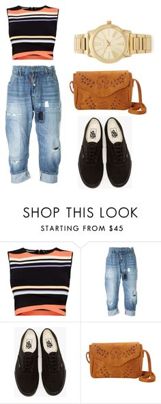 """Untitled #79"" by nirvanaopancar ❤ liked on Polyvore featuring Ted Baker, Dsquared2, Vans and Michael Kors"