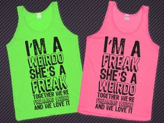 See more CRAZY, FUNNY matching BFF tees, hoodies, and sweaters in the Best Friends collection! Saved to Best Friends. Best Friend T Shirts, Bff Shirts, Best Friend Outfits, Best Friend Goals, Best Friend Quotes, Shirts With Sayings, Cute Shirts, Funny Shirts, Best Friends