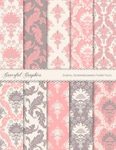 Digital Scrapbook Paper Pack Scrapbooking by GracefulGraphics, $3.00
