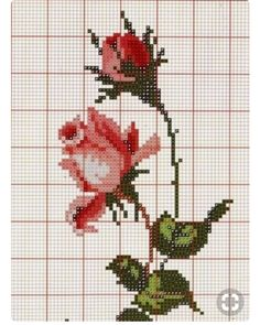 This Pin was discovered by Gul Russian Cross Stitch, Cross Stitch Rose, Cross Stitch Flowers, Cross Stitch Charts, Cross Stitch Designs, Cross Stitch Patterns, Cross Stitching, Cross Stitch Embroidery, Embroidery Patterns