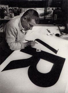 Paul Renner at work - typography