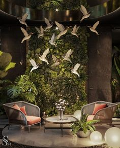 For all lovers of Contemporary Interiors, Studia 54 creates the most luxurious designs that leaves us surrendered by the way it seduces us in this whole scenario. Spa Interior, Interior Garden, Restaurant Interior Design, Cafe Interior, Home Interior Design, Interior Architecture, Interior Decorating, Modern Interior, Cafe Design