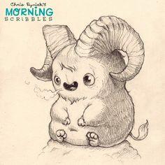 "Billy says, "" Bahhhhhhhh"". #morningscribbles"
