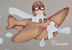 Mural infantil pintado a mano de Coconic