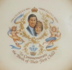 Vintage c.1982 plate commemorating the birth of Prince