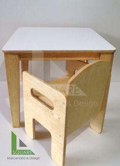 conjunto mesa e cadeira infantil método montessori  https://www.facebook.com/SQUARE-Marcenaria-Design-676547092432076