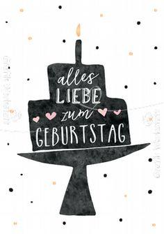 Alles Liebe zum Geburtstag - Postkarten - Grafik Werkstatt Bielefeld