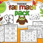 Fall Math Pack FREEBIE!This Fall Math Pack FREEBIE meets many common core standards while making math FUN!  This pack includes:-Domino Addition S...