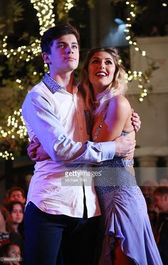 Hayes Grier and Emma Slater onstage during ABC's 'Dancing With The Stars' live finale held at The Grove on November 24, 2015 in Los Angeles, California.