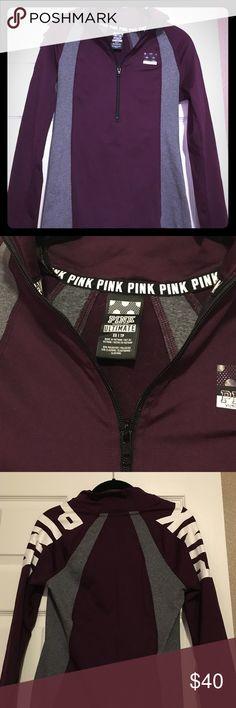 Victoria's Secret pink ultimate deep zip! Great condition vs pink deep zip in xs PINK Victoria's Secret Jackets & Coats