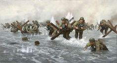United States Army rangers world war 2 art prints - Bing Images Military Art, Military History, Military Memes, Omaha Beach, Army Drawing, Military Drawings, United States Army, D Day, Armed Forces