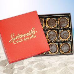 Dark Chocolate Sea Salt Gophers 9pc Gift Box, Gophers : Savannah Candy
