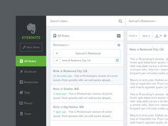 Evernote web app redesign updated (desktop)