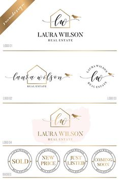 Real Estate Logo Design Bird logo Realtor Logo, House logo, Real Estate Branding Kit Key Logo, Real