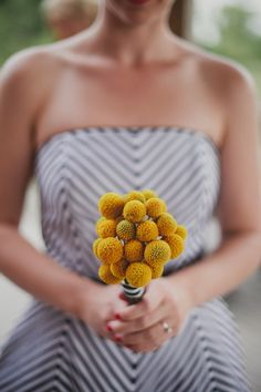 Yellow and Grey Bridesmaids Dress! LOVE the chevron stripes, super cute and original @Kelly Knoll