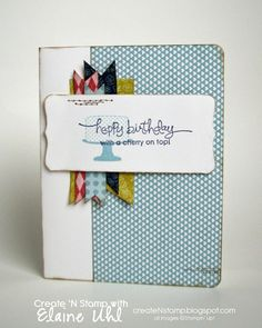 Create 'N Stamp with Elaine: Make a Cake - Birthday Card
