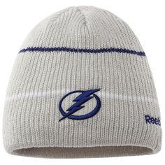 new arrivals 42e35 4a425 Men s Tampa Bay Lightning Reebok Gray Center Ice Travel   Training Knit  Beanie, Sale   14.99 - You Save   10.00