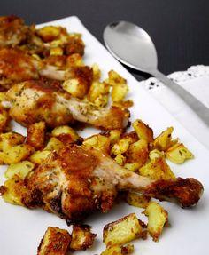Fuselli di pollo saporiti croccanti al forno