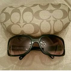 Coach sunglasses with the case Coach sunglasses with the case in great condition no scratches on the lens Brown rose coloring Coach Accessories Glasses