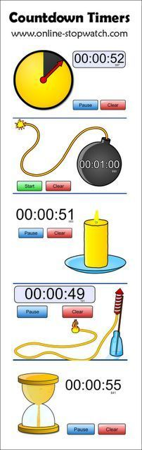 Fun Countdown Timers for the Classroom - omg I can't do anything in the classroom without setting a time limit!