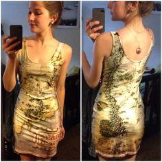 Ein Herr der Ringe Landkarten Kleid. Mittelerde auf Frau :-D