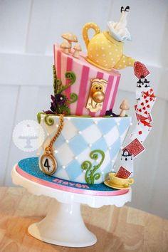 Le gâteau Alice au pays des merveilles