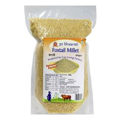 Foxtail millets are high in Iron content and these millets are totally pest-free. Foxtail not only not need any fumigants, but act as anti pest agents to store delicate pulses such as green gram. They also control blood sugar and cholesterol levels & increase HDL cholesterol. Price: 45/rs