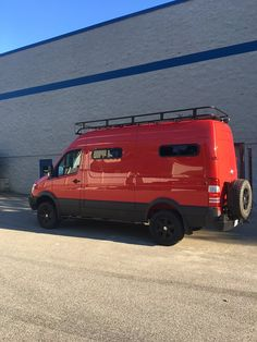 Aluminess roof rack on this red beauty!
