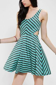Chevron Skater Dress | Urban Outfitters