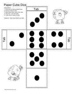 Make a Paper Cube Dice
