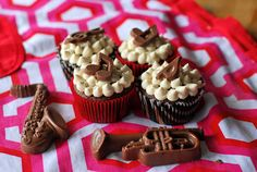 Chocolate Oatmeal Stout Cupcakes with Vanilla Porter Frosting