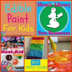 Edible Paint For Kids on Mom's Library, frugal and fun!