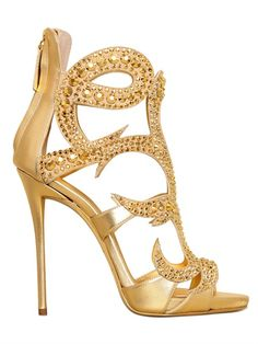 Hot Selling Gold Crystal Metallic Leather Sandals High Heel Back Zipper  Cage Heel Women Pumps Peep Toe Dress shoes woman 14b849aa2c52