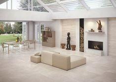 Matt finish stone effect stoneware: Code - Keope Ceramic Tiles Large Tile Bathroom, Wall And Floor Tiles, Wall Tiles, Eclectic Tile, White Porcelain Tile, Porcelain Floor, Chalet Design, Simple Pictures, Style Tile
