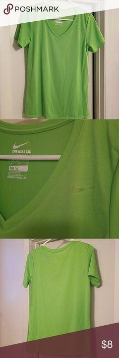 Nike Dri fit shirt Bright Green NEW W/O Tags Nike Tops Tees - Short Sleeve