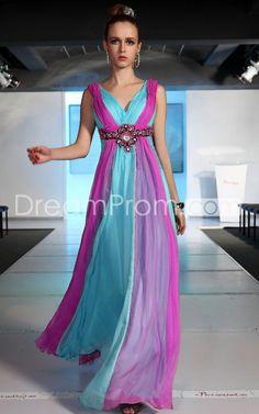 Gorgeous V-Neck A-Line Floor-Length Prom Dresses