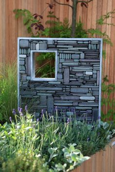 Squared - slate & steel - 45 x 56 x 10cm
