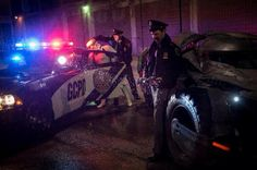 """Director Zack Snyder took to Twitter last night to post a new photo from the set of Batman v Superman: Dawn of Justice which features the Batmobile, the Gotham City Police Department and a... Stormtrooper from Star Wars? Snyder's tweet only says """"Case closed."""""""