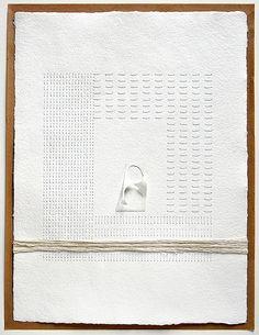 paper home nº 7 -by ersi marina samara. A unique and beautiful art gift. Peaceful white on white paper art. Conceptual artwork, minimal art.
