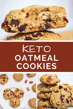 Our keto oatmeal cookie recipe from I Can't Believe It's Low Carb is finally here! Delicious soft sugar-free oatmeal cookies, without the oatmeal, and actually without any grains at all. Easy to make and a real crowd-pleaser, oh and don't forget the chocolate chips or dried cranberries you can add in as well! Check out this great recipe. #keto #cookies #dessert #ketodessert #ketosnacks #easy Sugar Free Oatmeal, Low Carb Oatmeal, Best Low Carb Recipes, Keto Recipes, Protein Recipes, Fun Recipes, Oatmeal Cookie Recipes, Oatmeal Cookies, Sugar Free Desserts