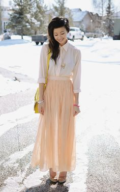 ordinary people: I LOVE maxi skirts