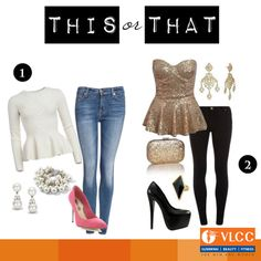 Have a party planned tonight?  #ThisOrThat? Which one of these outfits would you pick?