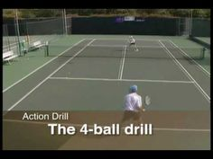 Tennis Drills - How to increase intensity with The 4-ball drill - Tennis Instruction