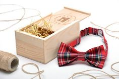 Checked accessories make a great match with jeans. This bow tie will be a highlight of your casual look. – Red checked bow tie – a unique product by RyabaVosch via en.dawanda.com